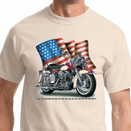 Motorcycle Flag Mens Biker Shirts