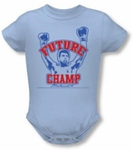 Muhammad Ali Baby Romper Infant Creeper Future Champion Light Blue