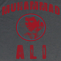 Muhammad Ali Shirt Ali Circle Logo Adult Charcoal Tee T-Shirt