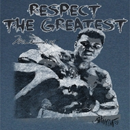 Muhammad Ali Shirt Respect The Great Adult Blue Tee T-Shirt