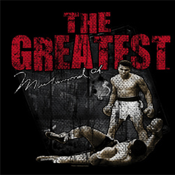 Muhammad Ali Shirt The Greatest Ali Time Adult Black Tee T-Shirt