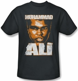 Muhammad Ali T-shirt Adult Angry Orange Charcoal Tee Shirt