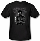 Muhammad Ali T-shirt Adult Champion Black Tee Shirt