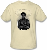 Muhammad Ali T-shirt Adult Champion Cream Tee Shirt