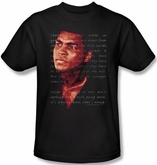 Muhammad Ali T-shirt Adult Champion�s Speech Black Tee Shirt