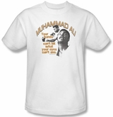 Muhammad Ali T-shirt Adult Eyes Can�t See White Tee Shirt