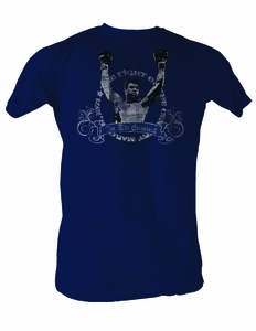 Muhammad Ali T-shirt Adult Fight Of The Century Navy Tee Shirt