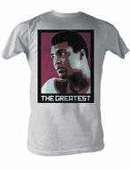 Muhammad Ali T-shirt Adult Great Vintage White Tee Shirt