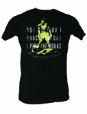 Muhammad Ali T-shirt Adult Knocking Black Tee Shirt