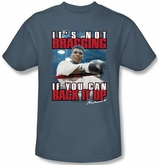 Muhammad Ali T-shirt Adult Not Bragging Slate Blue Tee Shirt