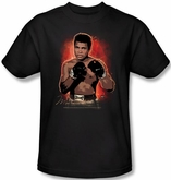 Muhammad Ali T-shirt Adult Painted Black Tee Shirt