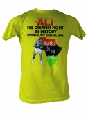 Muhammad Ali T-shirt Adult Rumble Jungle Yellow Tee Shirt