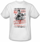 Muhammad Ali T-shirt Adult Rumble Poster White Tee Shirt