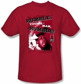 Muhammad Ali T-shirt Adult Rumble Red Tee Shirt