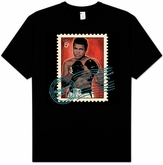 Muhammad Ali T-shirt Adult Stamped Black Tee Shirt