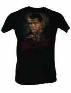 Muhammad Ali T-shirt Adult Sting Like A Bee Black Tee Shirt