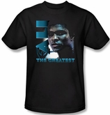 Muhammad Ali T-shirt Adult Sweat Equity Black Tee Shirt