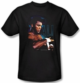 Muhammad Ali T-shirt Adult Taping Up Black Tee Shirt