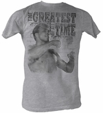 Muhammad Ali T-shirt Adult Training Stance Grey Heather Tee Shirt