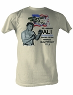 Muhammad Ali T-shirt Adult USA Ali Dirty White Tee Shirt