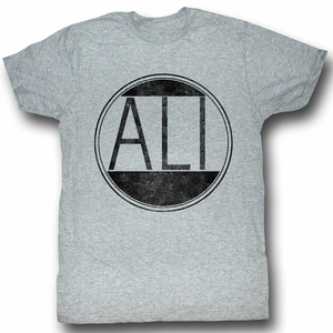 Muhammad Ali T-shirt Ali Circle Adult Heather Grey Tee Shirt