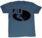 Muhammad Ali T-shirt Ali Lights Adult Heather Blue Tee Shirt
