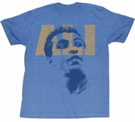 Muhammad Ali T-shirt Ali Look Adult Heather Blue Tee Shirt