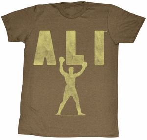 Muhammad Ali T-shirt Ali Victory Adult Heather Brown Tee Shirt