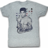 Muhammad Ali T-shirt Clay Adult Heather Grey Tee Shirt