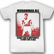 Muhammad Ali T-shirt Lurkin Adult White Tee Shirt
