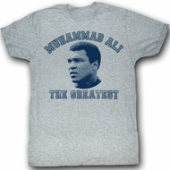 Muhammad Ali T-shirt The Greatest Adult Grey Tee Shirt