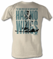 Muhammad Ali T-shirt Wings Adult White Tee Shirt