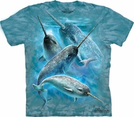 Narwals Whale Shirt Tie Dye Sealife T-shirt Adult Tee