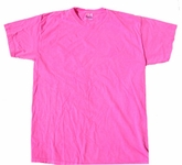 Neon Pink Bright Colorful Adult T-Shirt Tee Shirt