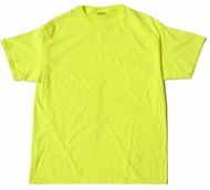 Neon Yellow Bright Colorful Adult T-Shirt Tee Shirt