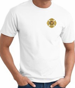 Never Forget T-Shirts - Fire Badge 10 Year Anniversary Adult