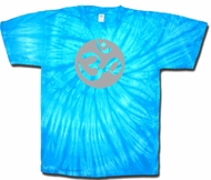 Om Tie Dye Shirt - Turquoise Blue Pastel Adult T-shirt