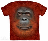 Orangutan Face Shirt Tie Dye Adult T-Shirt Tee