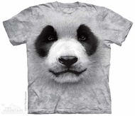 Panda Face Shirt Tie Dye Adult T-Shirt Tee