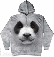Panda Hoodie Tie Dye Adult Hooded Sweat Shirt Hoody