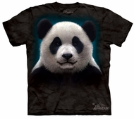 Panda Kids Shirt Tie Dye Bear Head T-shirt Tee Youth