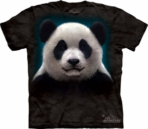 Panda Shirt Tie Dye Bear Head Adult T-shirt Tee