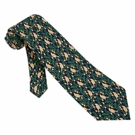 Partridge In A Pear Tree Navy Silk Tie Necktie Men�s Holiday Neck Tie