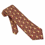 Partridge In A Pear Tree Red Silk Tie Necktie Men�s Holiday Neck Tie