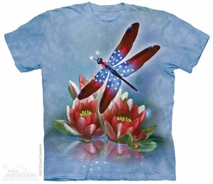 Patriotic Dragonfly Shirt Tie Dye Adult T-Shirt Tee