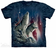 Patriotic Wolves Shirt Tie Dye Adult T-Shirt Tee