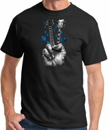 Peace Guitarist Mens Shirt - Don't Fret Guitar and Bass Tee