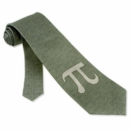 PI 50th Decimal Green Silk Extra Long Tie Necktie Men�s Geek Neck Tie