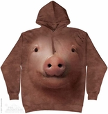 Pig Face Hoodie Tie Dye Adult Hooded Sweat Shirt Hoody