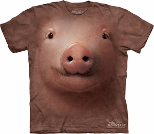 Pig Shirt Funny Pork Hog Face T-shirt Tie Dye Adult Tee